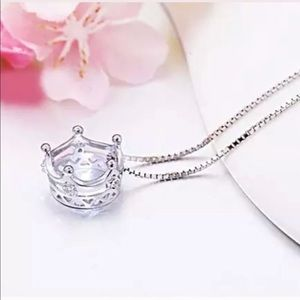 Jewelry - NWT SS 925👑 Crown pendant on choice of necklace